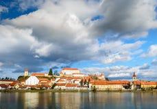 Ptuj, Slovénie, tir panoramique de la ville la plus ancienne en Slovénie Photo stock