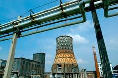 PTUJ SLOVENIEN - SEPTEMBER 2002: Industriområde royaltyfri foto
