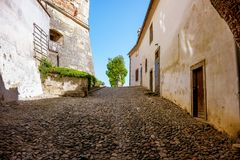 Ptuj, small street in the Castle area stock image
