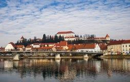 Ptuj stad, Slovenien, Centraleuropa Royaltyfri Fotografi