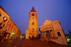 Ptuj vid natten, Slovenien Royaltyfria Bilder
