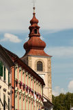 Ptuj - View of City Tower Stock Photo