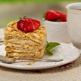 Ptysiowego ciasta Napoleon tort Zdjęcie Royalty Free