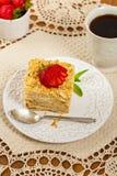 Ptysiowego ciasta Napoleon tort Zdjęcia Stock