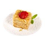 Ptysiowego ciasta płatkowatego ciasta warstew tort Zdjęcia Royalty Free