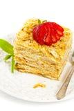 Ptysiowego ciasta płatkowatego ciasta warstew tort Obraz Stock