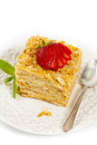 Ptysiowego ciasta płatkowatego ciasta warstew tort Zdjęcie Royalty Free