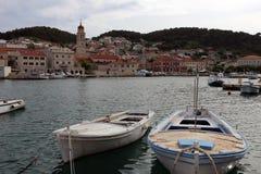 PuÄ  iÅ在小岛布拉奇岛的¡ Ä ‡ a在克罗地亚 免版税库存图片