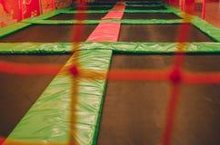 Puści trampolines w dziecko strefie zdjęcie stock