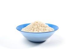 Puñado de arroz de grano largo aislado Imágenes de archivo libres de regalías