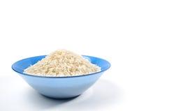 Puñado de arroz de grano largo aislado Imagen de archivo libre de regalías