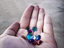 Puñado de gemas Imagen de archivo libre de regalías