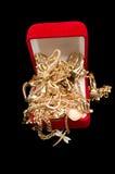 Puñado de oro Fotos de archivo libres de regalías