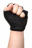 Puño con guantes masculino fotografía de archivo libre de regalías