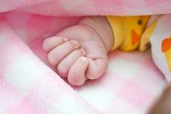 Puño del bebé Imagen de archivo