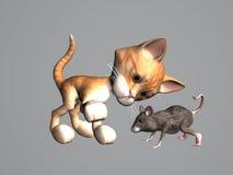 Può ed il mouse Fotografie Stock