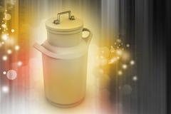 Può il contenitore per latte Immagini Stock