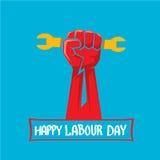 1 può - il giorno di lavoro manifesto di giorno di lavoro di vettore Immagini Stock Libere da Diritti