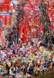1 può 1985, Mosca, quadrato rosso, dimostrazione dell'abitante Immagini Stock