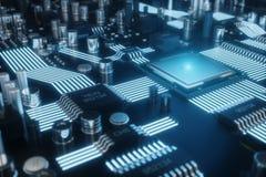 Può usare come priorità bassa Priorità bassa di tecnologia Concetto del CPU delle unità di elaborazione del computer centrale Chi royalty illustrazione gratis