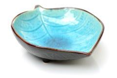 Puści ceramika talerze, błękita talerz obraz stock