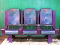 Puści czekanie terenu krzesła Zdjęcia Stock