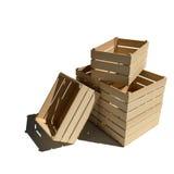 Puści drewniani pudełka Zdjęcie Stock
