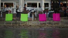 Puści hole na plenerowej kawiarni i plaży zbiory