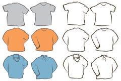puści koszulowi szablony royalty ilustracja