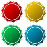 Puści odznaka kształty ustawiający Obraz Stock