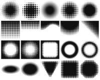 Puści projektów elementy inkasowi z halftone odmienianiem od zmroku zaświecać ilustracji