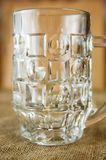 Puści szklani szkła dla piwa fotografia stock
