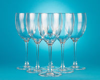 Puści wineglasses Fotografia Stock
