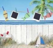 Puści wizerunki i przedmioty Wiesza plażą zdjęcie royalty free