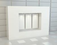 Puści biali plakaty w gablocie wystawowej Zdjęcie Stock