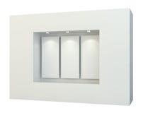 Puści biali plakaty w gabloty wystawowej okno Zdjęcie Royalty Free