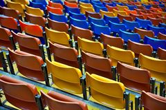 Puści blicharzów siedzenia w sala gimnastycznej Zdjęcia Royalty Free