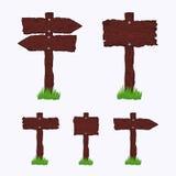 Puści Ciemni Drewniani znaki royalty ilustracja