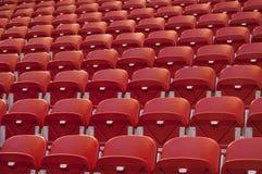 puści czerwoni siedzenia Fotografia Stock