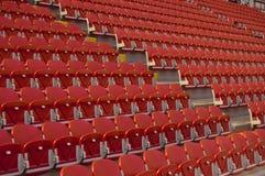 puści czerwoni siedzenia Zdjęcie Royalty Free