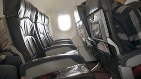 Puści samolotów siedzenia w kabinie Fotografia Royalty Free