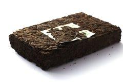 Pu'er tea Brick Stock Photo