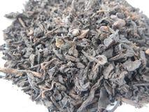 pu erh茶干燥叶子的细节 免版税库存图片