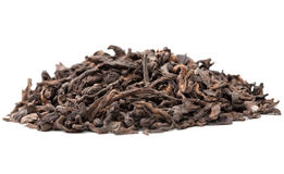 Pu-erh chinese tea  on white. Macro view of Pu-erh chinese tea  on white Stock Photography