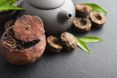 PU-erh del té verde Imagen de archivo
