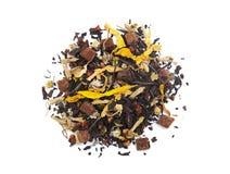 PU-erh roter Tee lokalisiert auf weißem Hintergrund lizenzfreies stockfoto