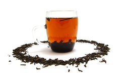 Pu-Erh tea. Glass of Pu-Erh tea Royalty Free Stock Photography