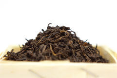 Pu-Erh tea. Box of Pu-Erh tea Royalty Free Stock Photos