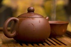 Pu Erh Tea Set Royalty Free Stock Photos