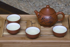 Pu Erh tea set Royalty Free Stock Image